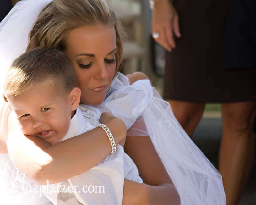 bride and the littlest groomsman