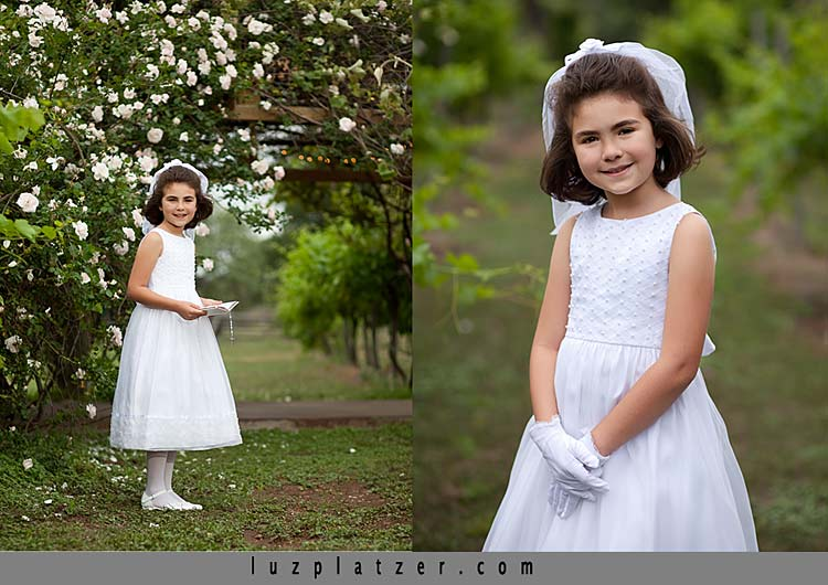 First Communion portraits in San Antonio Texas by Luz Platzer Photographic Art.